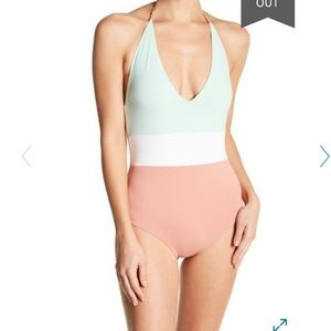 Womens Tavik Chase Colorblock One Piece Swimsuit L